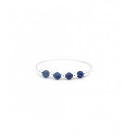 Bague mini fruits d'or argent /bleu - YAY