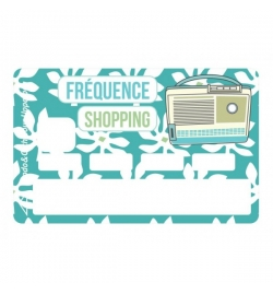 Sticker CB fréquence shopping