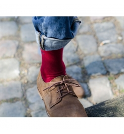 Chaussettes rouge framboise - Billy Belt