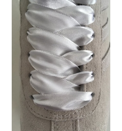 Lacets satin blanc - G&A