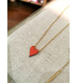 Collier Love - Rose Bouchon