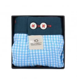 Caleçon Blue Gingham - Billy Belt
