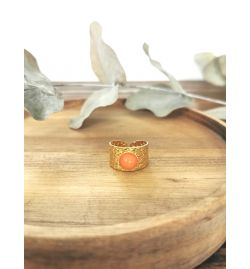 Bague Pierre orange - Kalisaya