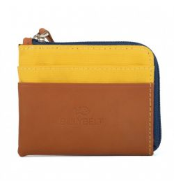Porte cartes zip jaune - Billy Belt