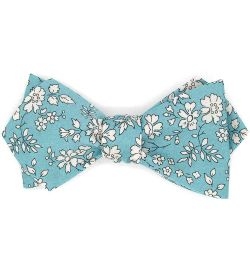 Noeud papillon Liberty Capel n sea green - Le Coq en Pap'