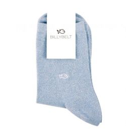Chaussettes lurex bleu pastel - Billy Belt