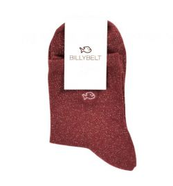 Chaussettes lurex bordeaux - Billy Belt