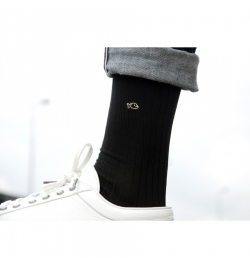 Chaussettes fil d'écosse grises anthracite - Billy Belt
