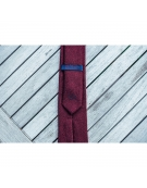 Cravate laine bordeaux et rouge - Billy Belt