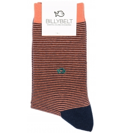 Chaussettes rayées corail - Billy Belt